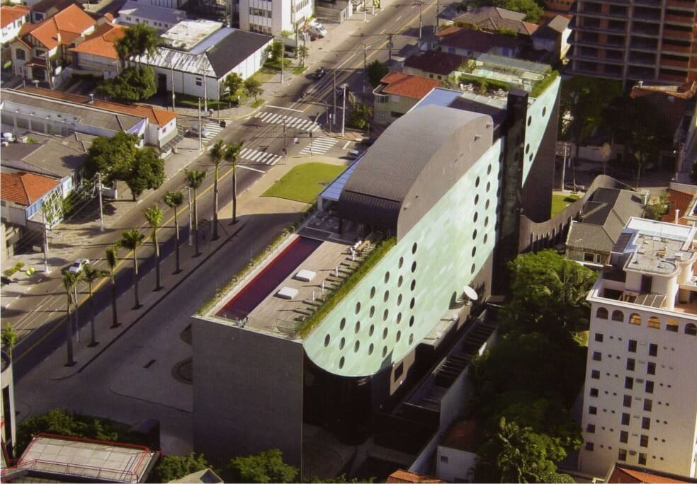 Aerial view of the Hotel Unique