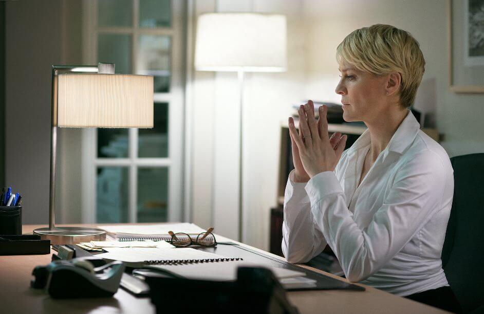 Claire Underwood in her office