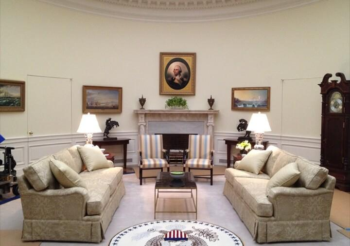 House of Cards Decoration for the White House Oval Room