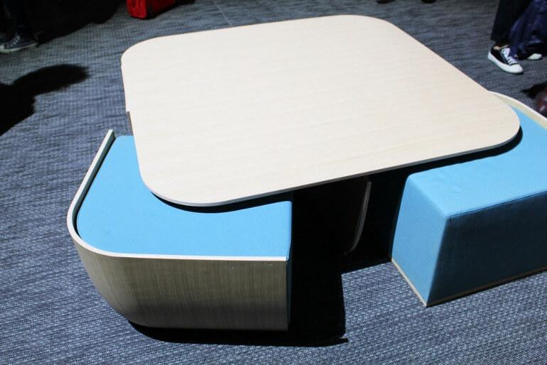 Multifunctional furniture - Coffee table with built-in benches