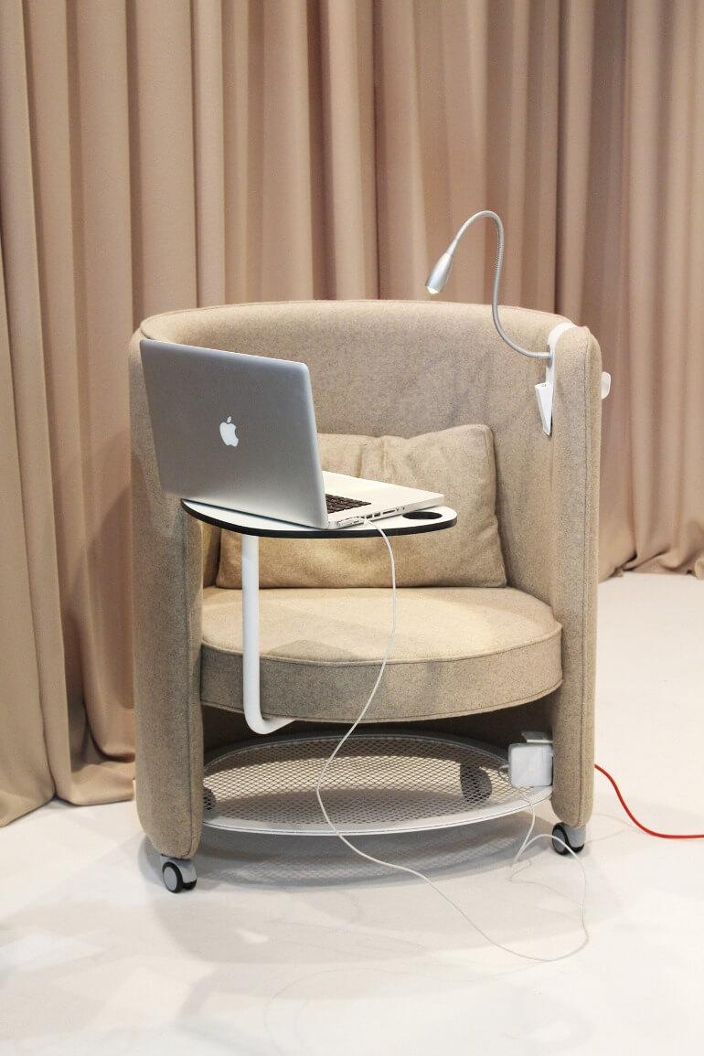 Multifunctional furniture - Workstation with table and electricity point
